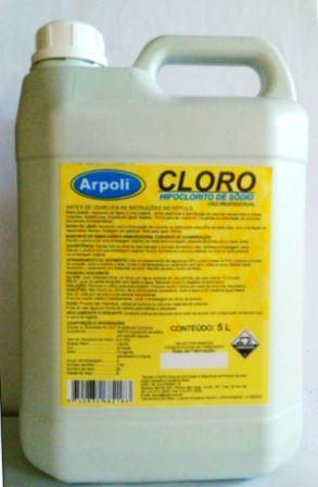 Hipoclorito de s dio 5l cloro liquido arpoli for Cloro liquido para piscinas